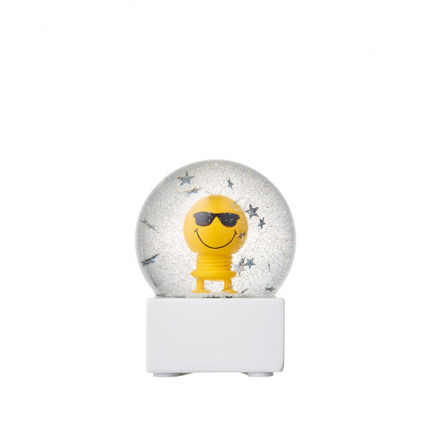 Hoptimist Small Smiley Cool Glitter Globe