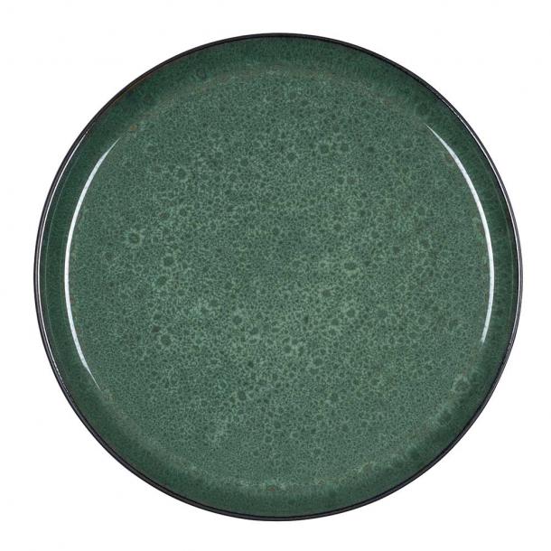 Bitz Gastro Tallerken Sort/mørkegrøn 21 cm.