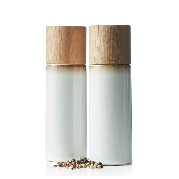 Bitz Salt - Og Pebersæt Creme H: 16,7 cm