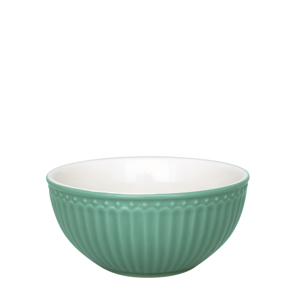 GreenGate Cereal Skål Alice Dusty Green 45 cl