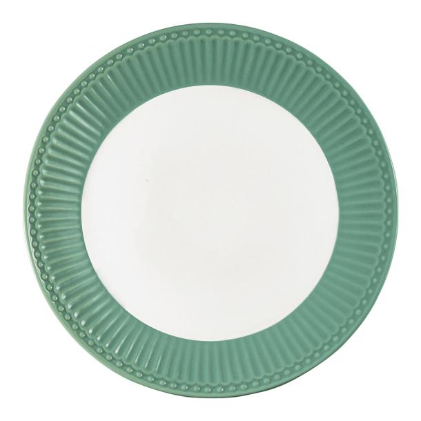 GreenGate Tallerken 26,5 cm Alice Dusty Green