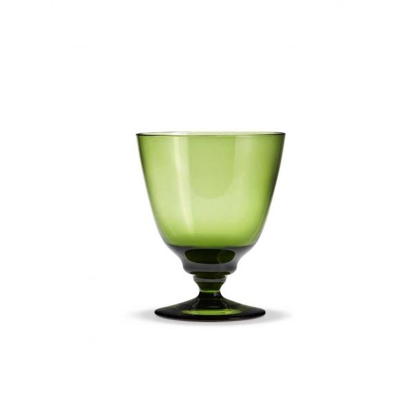 Holmegaard Flow Vandglas På Fod Olivengrøn 35 cl