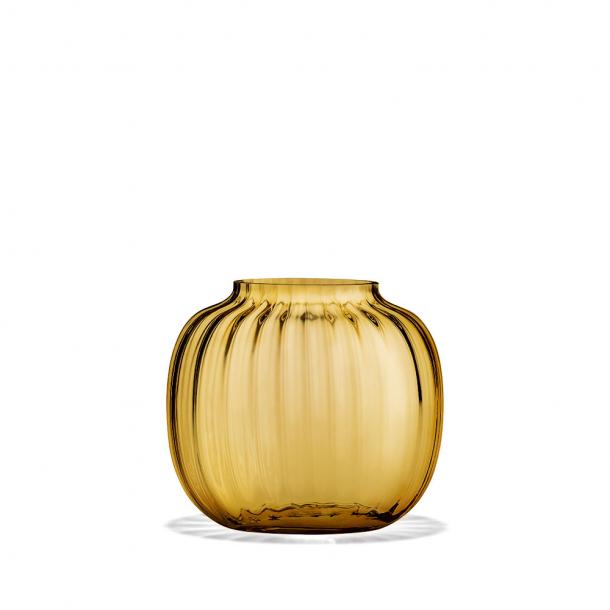Holmegaard Primula Oval Vase Amber 12,5 cm