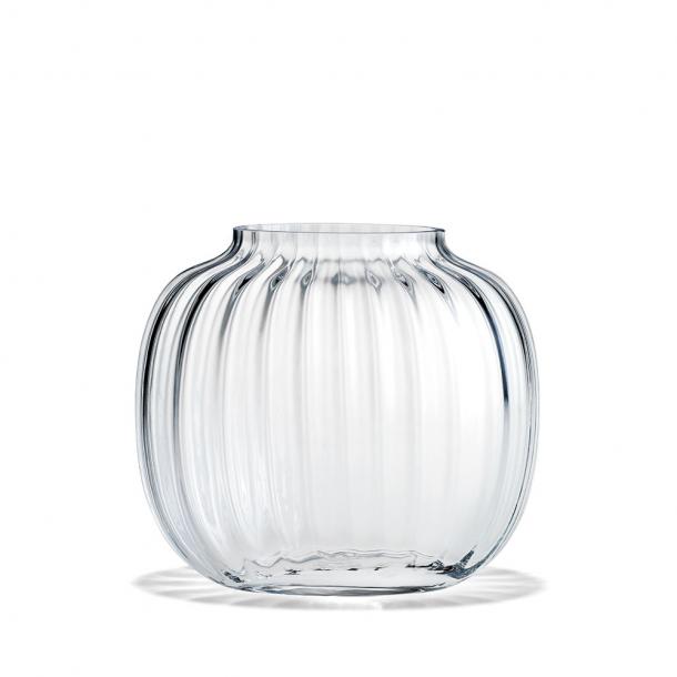 Holmegaard Primula Oval Vase Klar H:17,5 cm