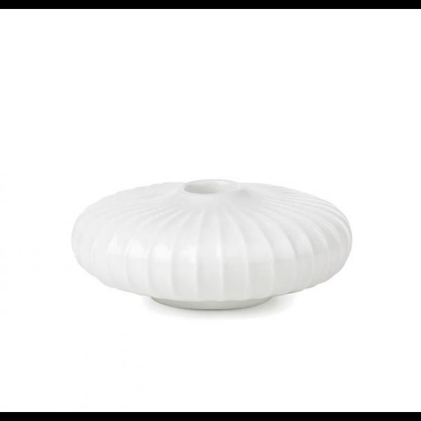 Kähler Hammershøi Lysestage Flad 4,5 cm. Hvid