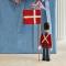 Kay Bojesen Mini Fanebærer Med Tekstilflag