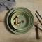 Knabstrup Keramik Dyb Tallerken Olivengrøn Ø:14,5 cm