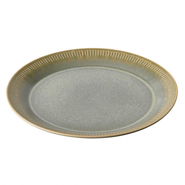 Knabstrup Keramik Middagstallerken Olivengrøn Ø:27 cm
