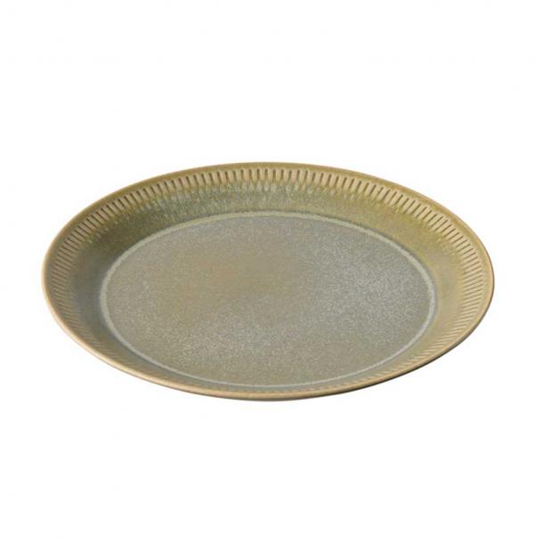 Knabstrup Keramik Frokosttallerken Olivengrøn Ø:22 cm
