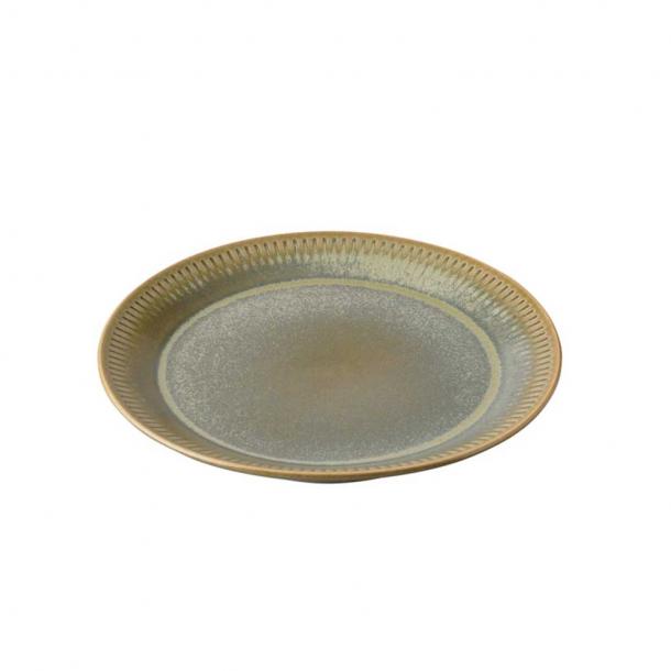 Knabstrup keramik Kagetallerken Olivengrøn Ø:19 cm