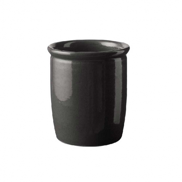 Knabstrup Keramik Syltekrukke Antracitgrå 1 L