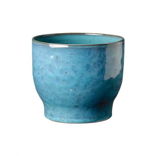Knabstrup Keramik Urtepotteskjuler Støvet Blå Ø: 12,5 cm