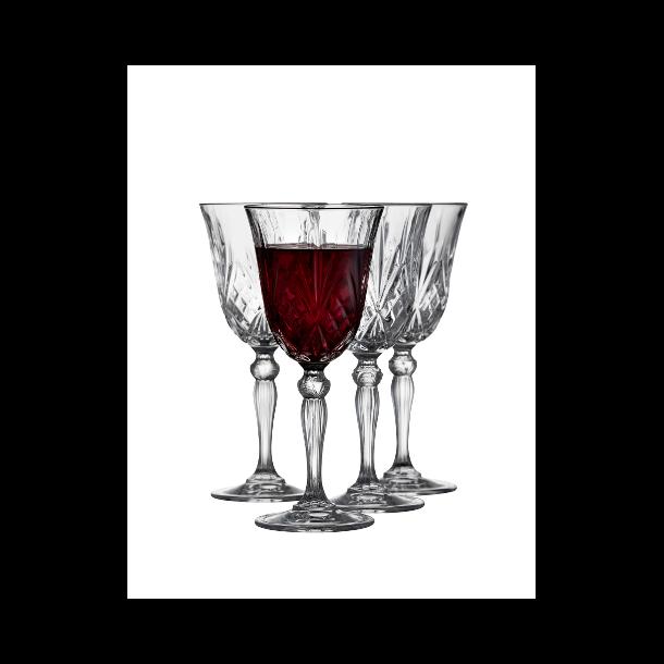 Lyngby Glas Melodia Rødvinsglas 27 cl. 4 stk.