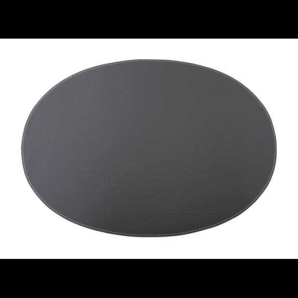 Ørskov Læder Dækkeserviet 34 X 47 cm - Mørkegrå