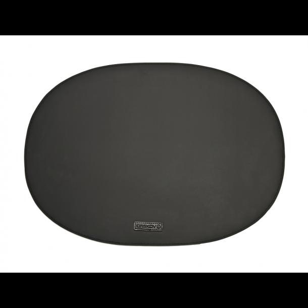 Ørskov Oval Gummi Dækkeserviet 35 X 48 cm - Sort