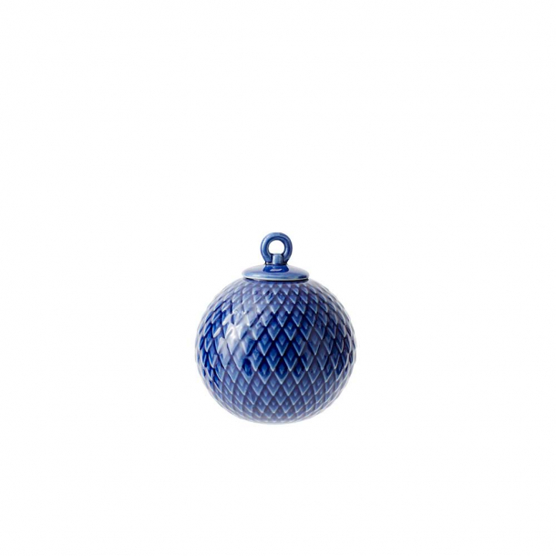 Lyngby Rhombe Dekorationskugle, Midnight Blue
