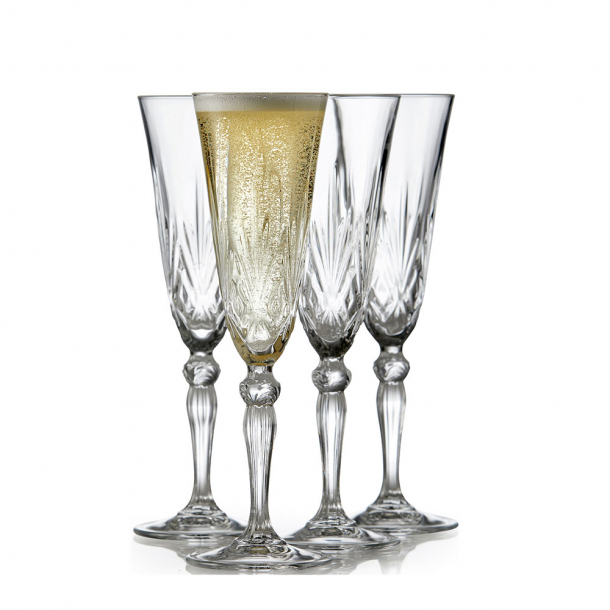 Lyngby Glas Melodia Champagne 4 stk. 16 cl.